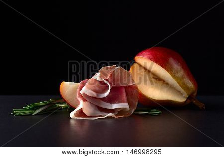 Spanish Jamon With Pear And Rosemary
