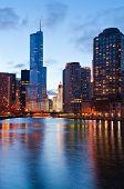 Chicago riverside poster