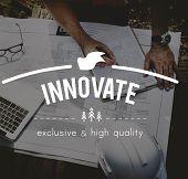Innovate Innovation Invention Innovative Technology Concept poster
