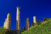 stock photo of olympic stadium construction  - Olympia archeological site Peloponnese Greece - JPG