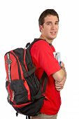 Young Student With Backpack poster