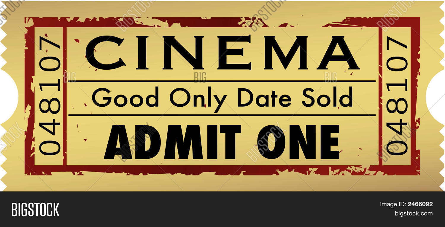Movie Ticket Vector Amp Photo Bigstock