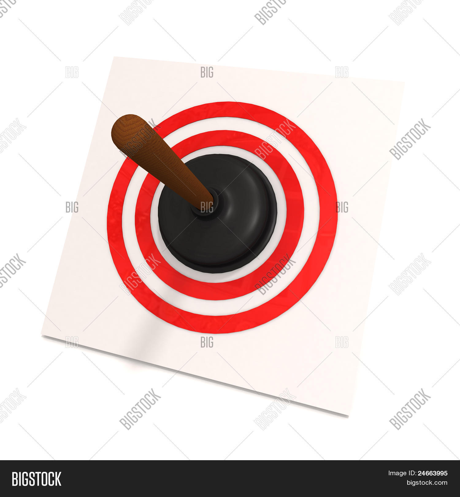 toilet plunger in red target stock photo stock images bigstock. Black Bedroom Furniture Sets. Home Design Ideas