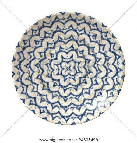 An image of a nice blue pottery plate
