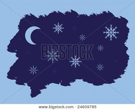 Night Snowflakes