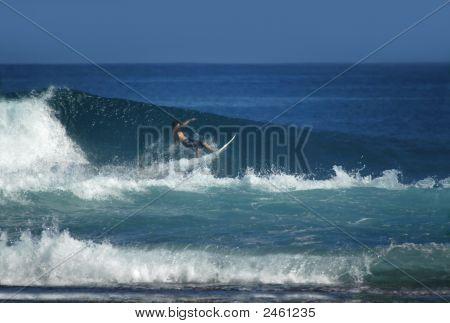 Brave Surfer Rides Huge Wave