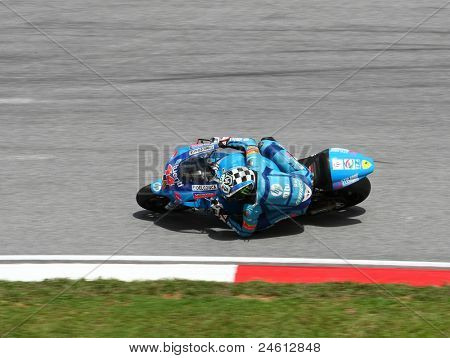 SEPANG, MALAYSIA - OCTOBER 23: Moto2 rider Pol Espargaro competes on race day of the Shell Advance Malaysian Motorcycle Grand Prix 2011 on October 23, 2011 at Sepang International Circuit, Malaysia.