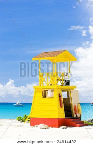 cabin on the beach, Enterprise Beach, Barbados, Caribbean