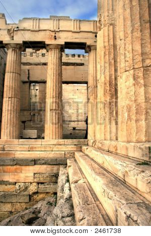 Athens, Greece - Propylaia Of The Acropolis
