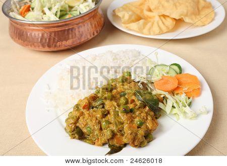 Vegetable Korma And Salad