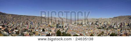 City Of La Paz Bolivia From Killi Killi Viewpoint