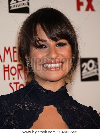 "LOS ANGELES - JAN 16:  Lea Michele arrives to the ""American Horror Story"" Los Angeles Premiere  on October 3,2011 in Hollywood, CA"