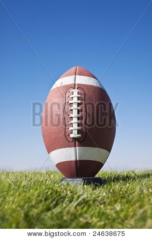 Football Ready for kickoff (close view)