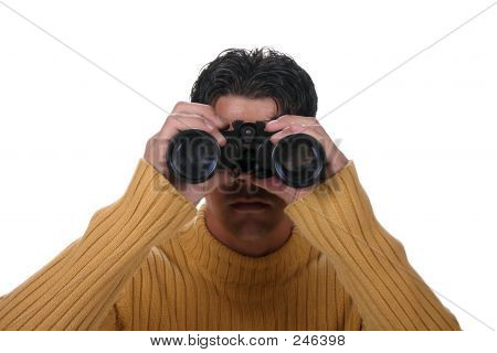 Man With Binoculars C/u