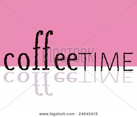 Coffee Time Sign Illustration