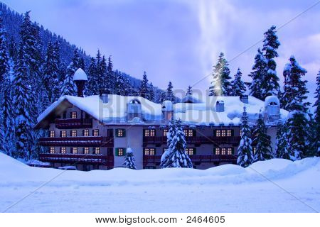 Hotel In Snow