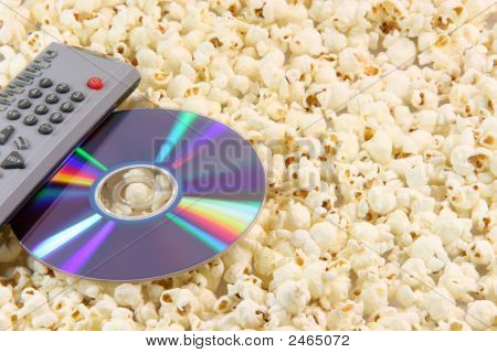 Popcorn Dvd Disc And Remote
