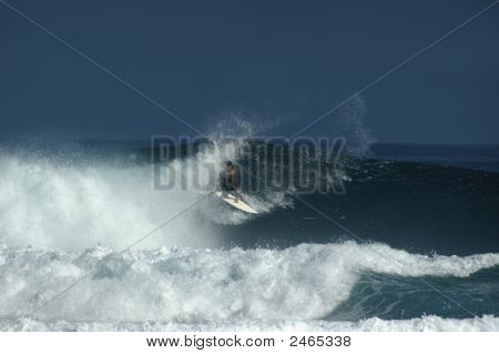 Boarder Braves Wild Waves