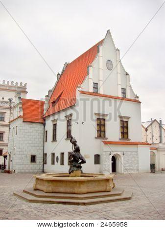 Poland, Poznan - Old Town Market Fountain