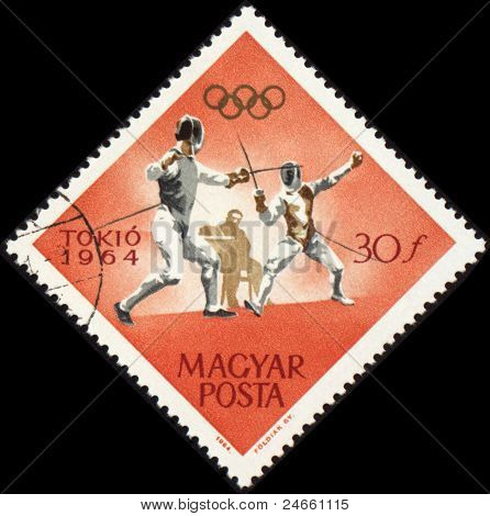 Fencing On Post Stamp