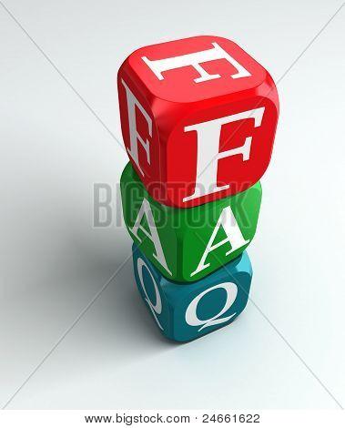 Faq 3D Colorful Buzzword