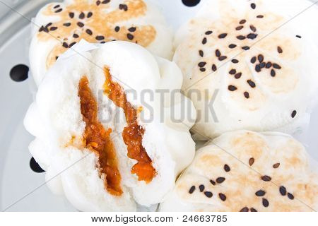 Steamed Pork Bun, Steamed Chicken And Shrimp Buns