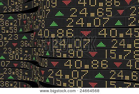 Stock market tickers abstract