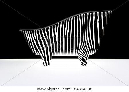 bath with zebra stripes