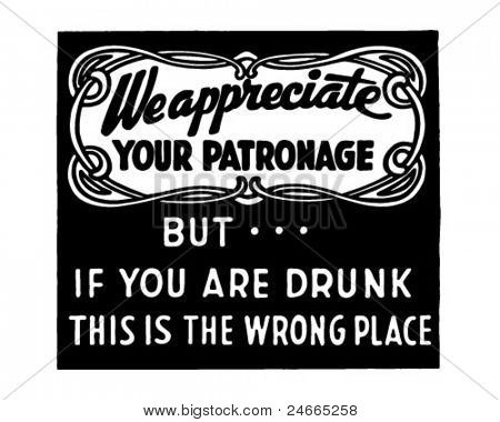 We Appreciate Your Patronage - Retro Ad Art Banner