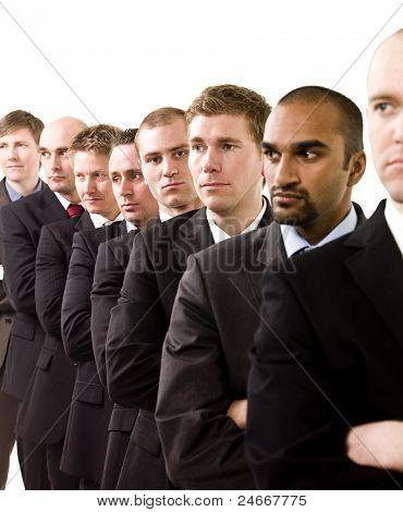 Businessmen On A Line