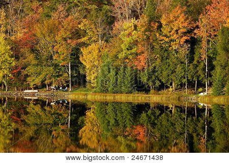 Fall Reflections on Lake