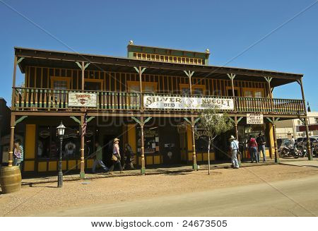 A View Of The Silver Nugget, Tombstone, Arizona