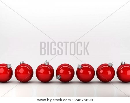 Red New Year's balls