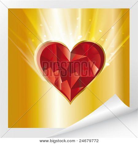 vector brilliant heart