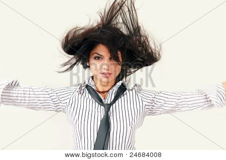 Urban Woman Flying Lifestyle