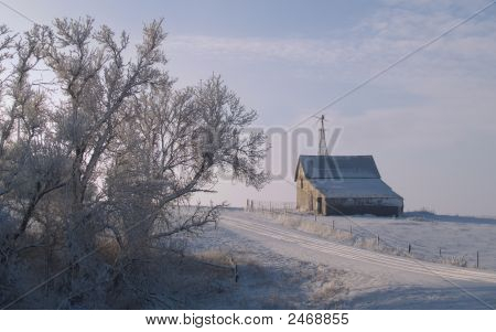 Rural Winter Morning