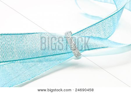 diamond and blue ribbon