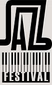 Vector Banner Or Poster For A Jazz Festival With Piano Keys In Retro Style On Black Background poster