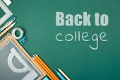 Students Stationary And Inscription Back To College. poster