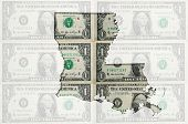 Outline Map Of Luisiana With Transparent American Dollar Banknotes In Background