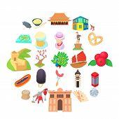 Culture Of Communication Icons Set. Cartoon Set Of 25 Culture Of Communication Vector Icons For Web  poster