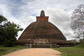 Jetavana Dagoba, Anuradhapura, the largest brick-built monument in the world, built in the 3rd centu