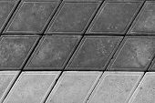 Pavement. Sidewalk Tile Background. Pavement Tile. Top View. Closeup. Footpath. Two Tone Sidewalk Ti poster