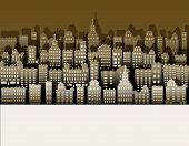 White Black City Paper, Nice Background For Urban Advert, Vector poster