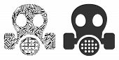 Gas Mask Mosaic Of Repair Tools. Vector Gas Mask Icon Is Done Of Cogwheels, Hammers And Other Mechan poster