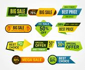Sale Stickers. Price Tag Label. Banner Sticker Or Special Colorful Abstract Flyer For Mega Big Speci poster