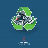 E-waste In Recycling Sign Symbol poster