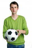 Постер, плакат: Любящая ий футбола