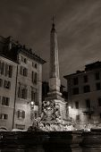 Piazza della Rotonda in front of Pantheon at night in Rome, Italy. poster
