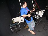 Barefoot Guitar Player#3 poster